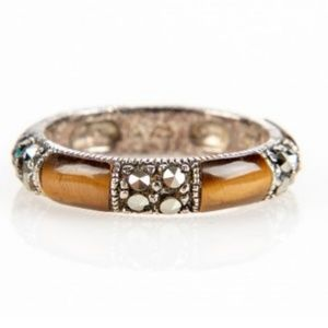 Jewelry - TIGER EYE & MARCASITE BAND